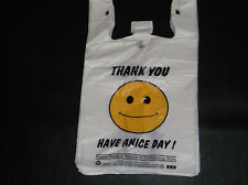 234 ct PLASTIC SHOPPING BAGS,T SHIRTTYPE GROCERY BAGS,HAPPY FACEWHITE BIG  BAGS.