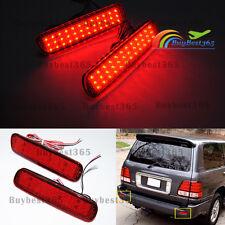 Red Lens Bumper Reflector LED Tail Brake Light For Lexus LX470 Land Cruiser