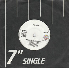 "7"" 45 TOURS UK BEE GEES ""You Win Again / Backtafunk"" 1987"