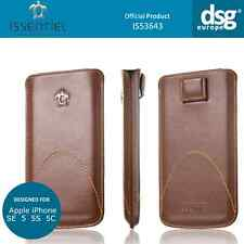 Issentiel Paris Classic- Genuine Leather Pouch Case for iPhone 5S 5 SE - Brown