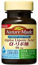 Nature Made Alpha Lipoic Acid 50mg 60 Liquid Softgels  Health Beauty Japan