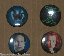 X Files - Mulder - Scully - 1993 - Dana & Fox - Gillian Anderson - SET of 4 Pins