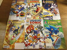 6x SONIC THE HEDGEHOG PROMOS; Archie comics lot SEGA nintendo sony SPAZ Yardley