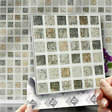 8 Stick & Go Pastel Mosaic Stick On Wall Tiles for Kitchens & Bathrooms