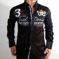 Zahida Herren Hemd Herrenhemd Langarm Hemde Schwarz Polo Club S M L XL XXL NEU