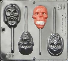 Zombie Head Lollypop  Sucker Chocolate Candy Mold  Halloween  Dead Design