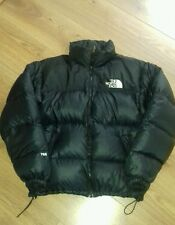 VTG MENS 90's THE NORTH FACE NUPTSE 700 DOWN PADDED BLACK PUFFA HOOD JACKET M