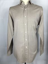 "Beautiful Quality, Men's, Beige, Long Sleeve, Ralph Lauren Shirt. L. 48"" Chest"