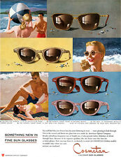 Cosmetan Calobar Sun Glasses AMERICAN OPTICAL Gay Pink Crush NATURAL WAFFLE 1952