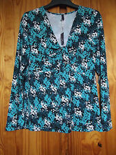 Midnight Grace from Figleaves Size16 Ivy Draped Neck Stretch Top Teal
