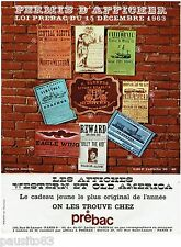PUBLICITE ADVERTISING 115  1963  PREBAC  les affiches WESTERN & OLD AMERICA