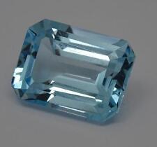 *** Hermoso Corte Esmeralda Topacio Azul 16.49ct Natural Gemstone ***