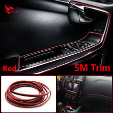 CHROME 5M FLEXIBLE TRIM FOR CAR INTERIOR EXTERIOR MOULDING DECORATIVE STRIPE RED