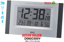 AUSSIE SELER CITIZEN MADE ALARM & WALL CLOCK SNOOZE TEMPERATURE LIGHT D092C500