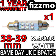 6 LED 239 272 38mm 39mm XENO BIANCO TARGA INTERNO LAMPADINA A SILURO UK