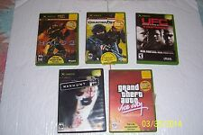 XBOX Games set of 5 With Cases