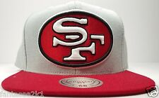 San Francisco 49ers Mitchell & Ness Trowback 2 Tone Field Snapback Hat Cap NFL