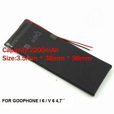 GOOPHONE BATTERY  I6  V6 4,7´´ , BATERIA 2200 mah 3.7 V FROM FACTORY , NEW!
