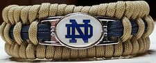 Notre Dame; The Fighting Irish; Gold with Navy Line Trilobite Paracord Bracelet