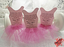 Set 10 BALLERINA TUTU inviti per Compleanno, Baby Shower o BATTESIMO PARTY