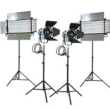 Kit 2x1000W Fresnel Tungsten Lights 2xFluorescent 6 bank light home film studio