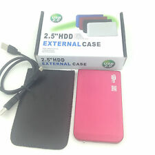 "New 80GB 80 GB External Portable 2.5"" USB 2.0 Hard Drive HDD POCKET SIZE Pink"