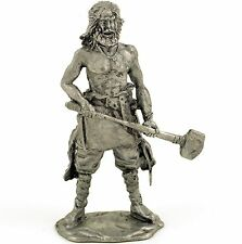 Viking. Berserker-Odin's warrior Tin toy soldier 54mm miniature figure
