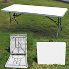 NEW HEAVY DUTY FOLDING TABLE 6 FT CAMPING PICNIC BANQUET PARTY GARDEN TABLES