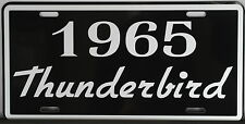METAL LICENSE PLATE 1965 65 THUNDERBIRD T-BIRD 390 428 FORD CONVERTIBLE ROADSTER