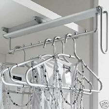 WARDROBE PULL OUT CLOTHES HANGER RAIL UNDER MOUNTED - 11086