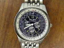 Vintage GENTS LARGE PAUL JARDIN QUARTZ CHRONOGRAPH watch WORKING CONDITION