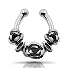 Rose Flower Shape Fake Nose Ring Septum Clicker Ear Cuff 1pc Fashion-panda-0116