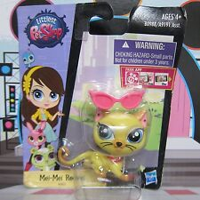 Littlest Pet Shop LPS Figure Child Toys #3803 Mei-Mei Reeves Kitty Cat Glasses