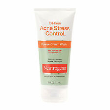 Neutrogena Acne Stress Control Oil-Free Power-Cream Wash 6 oz NEW 2/2018