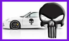 3 x THE PUNISHER 3D SKULL LOGO VINYL DECAL COMIC CAR LAPTOP STICKER GR WALL