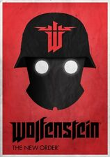 POSTER WOLFENSTEIN 2 OLD BLOOD THE NEW ORDER GAME HORROR ZOMBIE PS4 PS3 FOTO #1