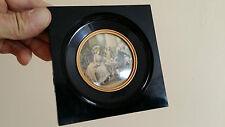 Cadre Miniature Style  NAPOLEON III medaillon vintage art deco porte photo noir