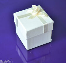 CREAM GIFT Box Wedding Candy FAVOUR SQUARE Cardboard Jewellery Box Paper 12
