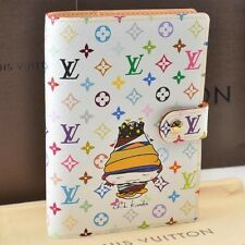 Auth  Louis Vuitton Multicolor Agenda PM Day Planner Cover White #U527