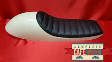 LS8 CAFE RACER ABS MOULDED SEAT BASE WITH BOLT ON/OFF BLACK LEATHERETTE PAD