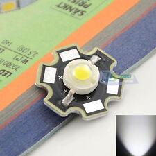 1 Pc White High Power 3W LED Light Chip Emitter 6000-6500K W/ 20mm Star Heatsink