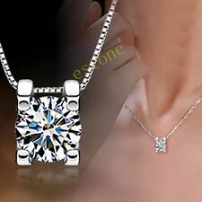 Fashion Lovely Silver Plated Crystal Only Love Necklace Pendant