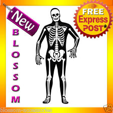 C659 Skeleton Zentai Second Skin Full Body Suit Bucks Fancy Dress Adult Costume