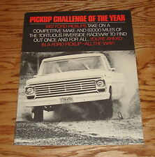 Original 1967 Ford Truck Pickup Challenge of the Year Sales Brochure 67