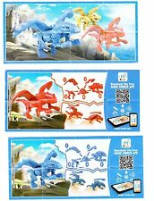 Komplettsatz Drachen fliegende Ungeheuer SD628-SD630 mit 3 BPZ aus Hongkong ����
