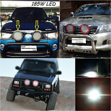 """9"""" 185W LED Off Road Work Lamps High Lumen Red Fog Lights For JEEP SUV 4WD Car"""