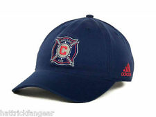 ADIDAS MLS SOCCER SLOUCH HAT/CAP-  CHICAGO FIRE - OSFM