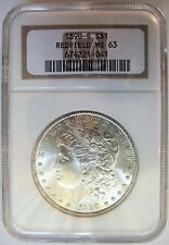 1890 S Morgan Silver Dollar NGC MS 63 Redfield Hoard Rare US Coin Gem Pedigree