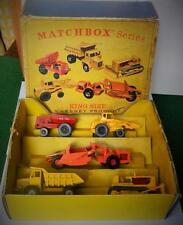 LESNEY MATCHBOX KING SIZE VINTAGE 1965 RARE BOXED G8 CIVIL ENGINEERING GIFT SET