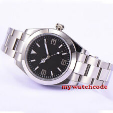 40mm parnis black dial sapphire glass automatic movement mens wrist watch 509